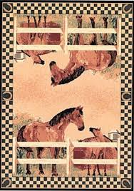 Western Style Area Rugs 5 3 X 7 2 Large Western Style Area Rug Hay River Tack And
