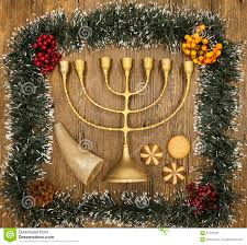 hanukkah is the jewish new year candle with christmas ornaments