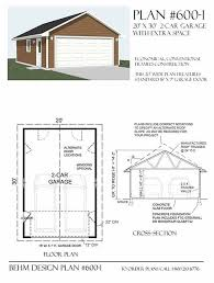 garage plan 2 car garage with extra depth plan 600 1 20 x 30 by behm