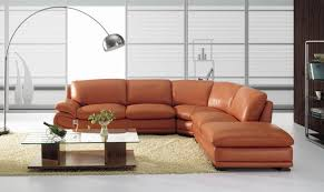 Contemporary Leather Sectional Sofa by Bo3920 Modern Camel Leather Sectional Sofa Burnt Orange Leather