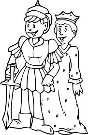 Coloriage du roi et de la reine Moyen âge à imprimer sur Coloriage