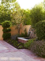 Mediterranean Backyard Landscaping Ideas Courtyard Landscaping Ideas Landscape Mediterranean With Pool