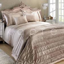 Gold Bedding Sets Luxury Metallic Velvet Duvet Quilt Cover Bedding Set Throw Silver
