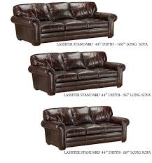 lassiter sofa extra deep and std depth by american heritage leather