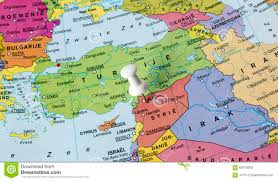 Map Of Syria by Map Of Syria In Middle East Stock Photo Image 68478553