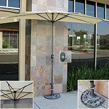Umbrella Stand Patio Best Choice Products 10ft Aluminum Half Patio