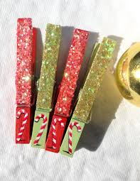 candy cane clothespins glitter red and green magnet christmas