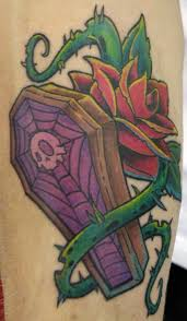 coffin tattoo art and designs page 3
