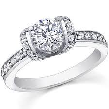 ribbon ring brilliant ribbon moissanite engagement ring moissaniteco