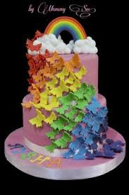 rainbow butterfly birthday cake by tacticalbaker cakesdecor