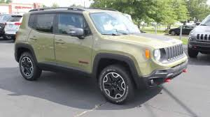 new jeep renegade green new 2015 jeep renegade trailhawk commando green youtube