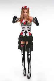 halloween costume mexican skeleton vampire costume for women skull zombies costume deguisement