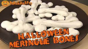 halloween meringue bones recipe youtube