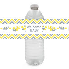 yellow and gray elephant unisex baby shower collection u2013 distinctivs