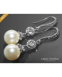 chandelier wedding earrings deal alert pearl bridal earrings ivory pearl chandelier wedding