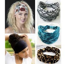 stretch headbands bohemia boho wide cotton stretch women headbands headpiece