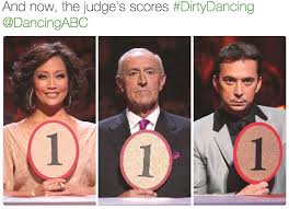 Dirty Dancing Meme - and now the judge s scores dirtydancing dancingabc abc s