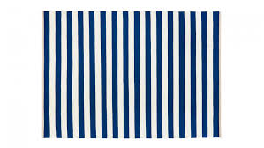 Blue White Striped Rug Nautical Themed Kids Bedroom