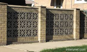 brick fence decorative blocks florida style fences
