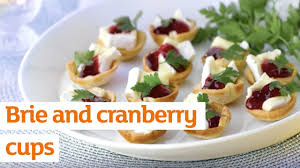canape cups recipes brie and cranberry cups recipe sainsbury s