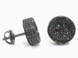 mens black diamond earrings lovely real black diamond earrings for men allezgisele diamonds