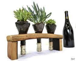 reclaimed wine barrel herb garden planter