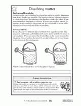 5th grade science worksheets how soluble is it greatschools