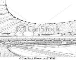 vector clip art of football soccer stadium vector csp9717531