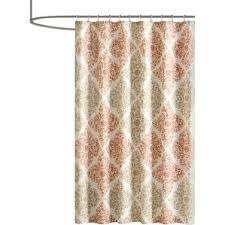Peach Bathroom Accessories by Orange Shower Curtains You U0027ll Love Wayfair