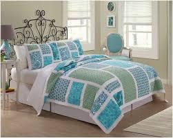 Patchwork Comforter Beach Style Bedroom Design With Blue Green Patchwork Comforter Set