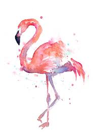 Home Decorations And Accessories by Flamingo Watercolor By Olga Shvartsur Art Prints Home Decor And