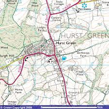 hurst map hurst green city map hurst green mappery