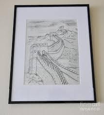great wall of china drawing by dejan jovanovic