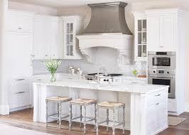 Rush Interiors White And Gray Kitchen With Zinc French Kitchen Hood