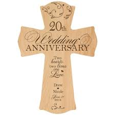 20 year wedding anniversary ideas personalized 20th wedding anniversary 20th anniversary wall cross