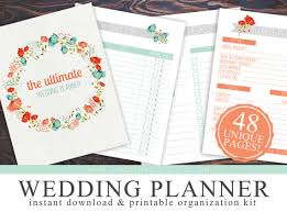 ultimate wedding planner printable wedding checklist planner