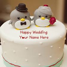 Wedding Wishes Online Editing Cute Happy Wedding Cake With Name Wishes Pictures Online Create