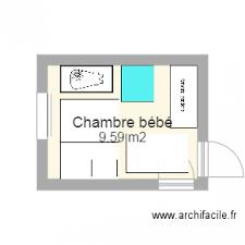 plan chambre enfant chambre bébé plan 1 pièce 10 m2 dessiné par jhennon