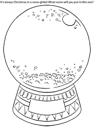 snow globe coloring coloring
