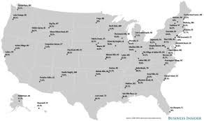 New York State Map With Cities And Towns by Most Educated Places Map Business Insider