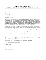 best solutions of cover letter examples for science research about