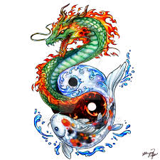 dragon koi tattoo commission by yuumei on deviantart