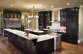 raised kitchen island astounding black l shaped kitchen islands ideas with bar style f