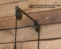 pulley system light fixtures etsy your place to buy and sell all things handmade