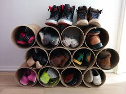 wall mounted diy shoe holder storage under bookshelf and furniture