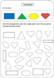 ideas of colors and shapes worksheets for preschoolers also