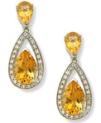 shop citrine earrings at macy s macy s