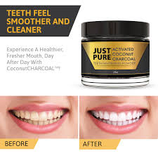 just pure activated charcoal teeth whitener just pure hut