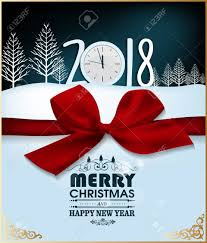 happy new year 2018 greeting card and merry royalty free