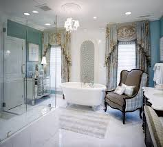 Royal Blue Bathroom by Architecture Pretty Nice Interior Design With Large Bathtubs And